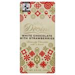 Divine Chocolate White With Strawberries (10x3.5 Oz)