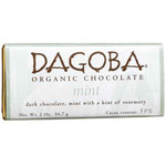 Dagoba Chocolate Mint Dark Chocolate Bar 59% (12x2 Oz)