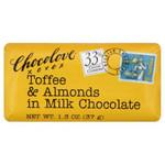 Chocolove Milk Chocolate Toffee & Almond Mini Bar (12x1.3 Oz)