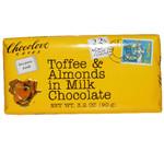 Chocolove Milk Choc Toffee & Almond Bar (12x3.2 Oz)
