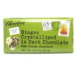 Chocolove Dark Chocolate Bar Crystallized Ginger (12x3.2 Oz)