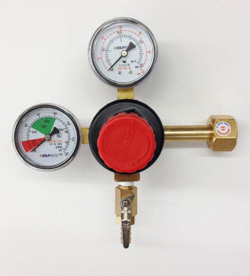 Taprite 742HP Regulator Double Gauge CO2 w/ Easy Turn Knob