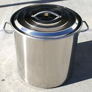 Stainless Steel Stock Pot Kettle, 60-Quart, 15 Gallon