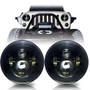 LED Headlight on Jeep Wrangler - Black