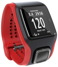 TomTom Multi Sport Cardio GPS Watch - Red / Black - TomTom Refurbished