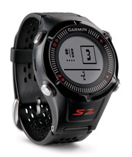 Garmin Approach S2 GPS Golf Watch - Black / Red - (Garmin Newly Overhauled)