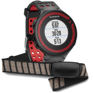 Garmin Forerunner 220 GPS Sports Running Watch & Heart Rate Monitor Bundle - Black/Red (Garmin Newly Overhauled)