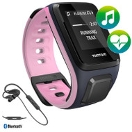 TomTom Spark - Cardio - Music - Headphones - Blue Pink - Small GPS Multi-Sport Fitness Watch
