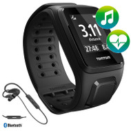 TomTom Spark - Cardio - Music - Headphones - Black - Large GPS Multi-Sport Watch