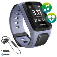 TomTom Spark - Cardio - Music - Headphones - Purple - Small GPS Multi-Sport Fitness Watch