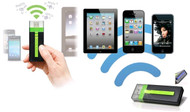 Maxell AirStash Wireless USB Flash Drive Media Streamer With 8GB Class10 SD Card