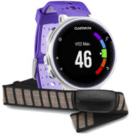 Garmin Forerunner 230 Colour Display ANT+ GPS Sports Running Watch - Purple/White + HRM Bundle