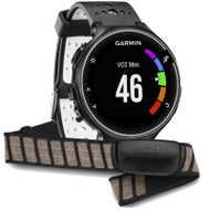 Garmin Forerunner 230 Colour Display ANT+ GPS Sports Running Watch - Black/White + HRM Bundle