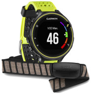Garmin Forerunner 230 Colour Display ANT+ GPS Sports Running Watch - Black/Yellow + HRM Bundle