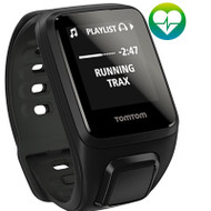 TomTom Spark 3 Multi Sport GPS Fitness Watch with Heart Rate Monitor - Large Strap, Black