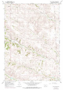 7.5' Topo Map of the Bar V Ranch, MT Quadrangle