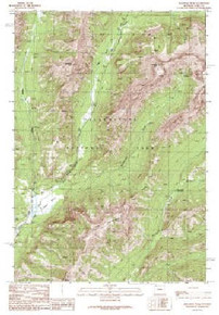 7.5' Topo Map of the Abiathar Peak, WY Quadrangle