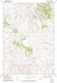 7.5' Topo Map of the Adon NW, WY Quadrangle