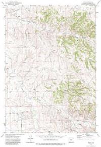 7.5' Topo Map of the Adon, WY Quadrangle