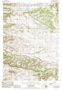 7.5' Topo Map of the Aladdin, WY Quadrangle