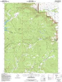 7.5' Topo Map of the Albany, WY Quadrangle