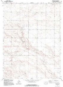 7.5' Topo Map of the Albin SW, WY Quadrangle