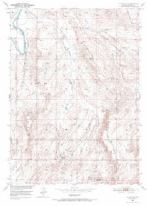 7.5' Topo Map of the Alcova SE, WY Quadrangle