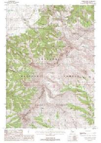 7.5' Topo Map of the Aldrich Basin, WY Quadrangle