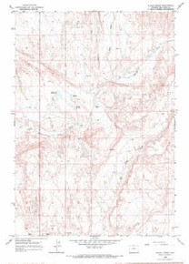 7.5' Topo Map of the Alkali Creek, WY Quadrangle