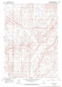 7.5' Topo Map of the Alkali Creek, WY Quadrangle