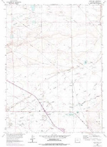 7.5' Topo Map of the Alsop Lake, WY Quadrangle