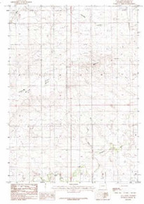 7.5' Topo Map of the Alta Creek, WY Quadrangle