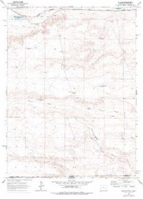 7.5' Topo Map of the Altvan, WY Quadrangle