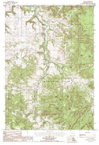 7.5' Topo Map of the Alva, WY Quadrangle