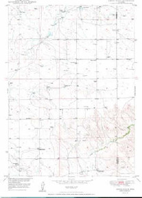 7.5' Topo Map of the Amend Ranch, WY Quadrangle