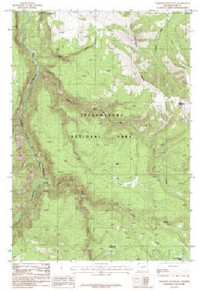7.5' Topo Map of the Amethyst Mountain, WY Quadrangle
