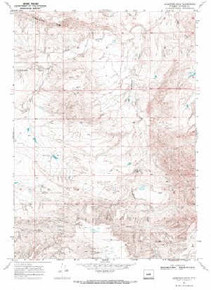 7.5' Topo Map of the Anderson Draw, WY Quadrangle