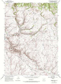 7.5' Topo Map of the Anderson Ridge, WY Quadrangle