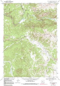 7.5' Topo Map of the Angle Mountain, WY Quadrangle
