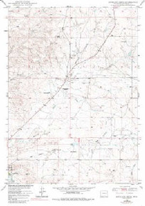 7.5' Topo Map of the Antelope Creek, WY Quadrangle