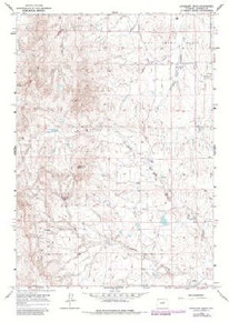7.5' Topo Map of the Antelope Draw, WY Quadrangle