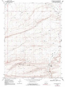 7.5' Topo Map of the Antelope Flats, WY Quadrangle