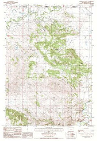 7.5' Topo Map of the Antelope Gulch, WY Quadrangle