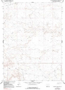 7.5' Topo Map of the Antelope Knoll NE, WY Quadrangle