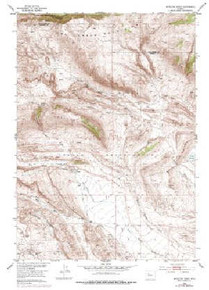 7.5' Topo Map of the Antelope Ridge, WY Quadrangle