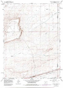 7.5' Topo Map of the Antelope Spring, WY Quadrangle