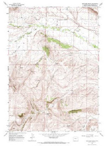 7.5' Topo Map of the Arapahoe Ranch, WY Quadrangle