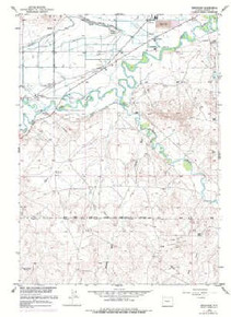 7.5' Topo Map of the Arapahoe, WY Quadrangle