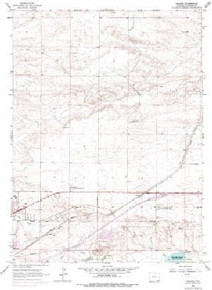 7.5' Topo Map of the Archer, WY Quadrangle