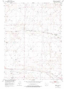 7.5' Topo Map of the Arminto NW, WY Quadrangle